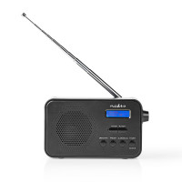 Nedis radiopřijímač DAB+ / FM, 3.6W, budík, 40 předvoleb