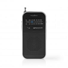 Nedis kapesní radiopřijímač FM 1.5 W stříbrná/černá
