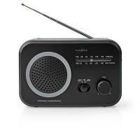 Nedis přenosný radiopřijímač AM/FM 1.8 W, černá