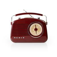 Přenosné FM Rádio FM / AM Hnědá
