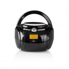 Nedis přenosný přehrávač 9 W / CD / rádio / Bluetooth / USB / AUX černý