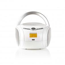 Nedis přenosný přehrávač 9 W / CD / rádio / Bluetooth / USB / AUX bílý