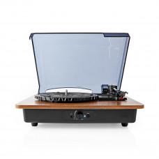 Nedis gramofon 9 W, Bluetooth, automatické vypnutí, akumulátor, hnědá