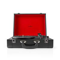 Nedis kufříkový gramofon 18 W, Bluetooth, černá