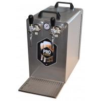 Výčepní zařízení Pro Event S 2A s vestavěným vzduchovým kompresorem dvoukohoutové