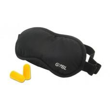 Cestovní set - Spací maska na oči a špunty do uší do letadla