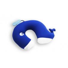 Cestovní krční polštář ve tvaru U (modrý)