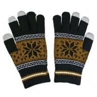 ALIGATOR rukavice na dotykový displej NORDIC, hnědé