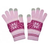 ALIGATOR rukavice na dotykový displej NORDIC dámské, růžové