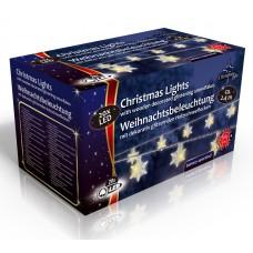 Vánoční světelný řetěz 20x LED sněhové vločky, na baterie 3x AA, délka 2.4 m