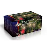 Vánoční vnitřní světelný řetěz 160x LED dioda teplá bílá, 230V, délka 14.3 m