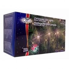 Vánoční vnitřní i venkovní světelný řetěz 160x LED dioda teplá bílá, 230V, délka 17,8 m