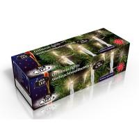 Vánoční vnitřní světelný řetěz 56x LED bílý, na baterie 3x AA, délka 6.5 m