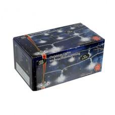 Vánoční vnitřní světelný řetěz 20x LED ledové kostky, na baterie 3x AA, délka 2.4 m