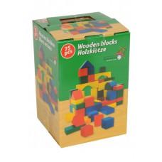 Dřevěné kostky (sada 75 ks)