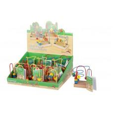 Dřevěný motorický labyrint malý (10x7x11,5cm)