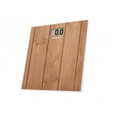 Beper 40810 digitální skleněná osobní váha do 150 kg, hnědá - dřevo