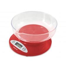 Beper 90115R kuchyňská elektronická váha, červená