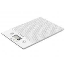Beper 90123B elektronická skleněná kuchyňská váha Diana, bílá, do 5kg