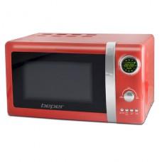 BEPER 90890R digitální mikrovlnná trouba s grilem 20l retro červená