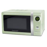 BEPER 90890V digitální mikrovlnná trouba s grilem 20l retro zelená