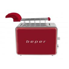 Beper BT001R topinkovač/toastovač, 750W, červený