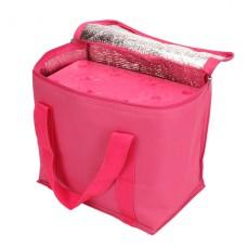Chladicí taška růžová (objem 7l) a velká chladicí vložka