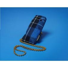 Coverized JACK malá brašna na MP3 / MP4, modrý tartan