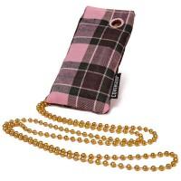 Coverized JACK malá brašna na MP3 / MP4, růžový tartan