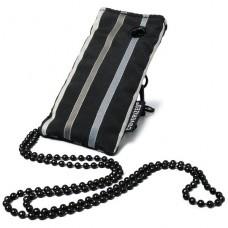 Coverized TAILOR malá brašna na MP3 / MP4, černá, široké pruhy