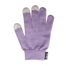 Rukavice iTECH s elektrovodivými konečky 3566-3P (3 prsty) velikost M fialové