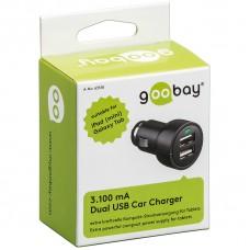Goobay 63518 nabíječka do zásuvky autozapalovače 12 - 24V pro 2x USB (1x 3100mA nebo 2x 1550mA)