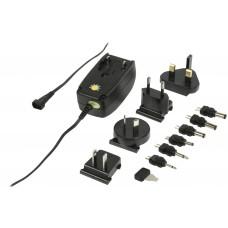 Napájecí adaptér 230V/3-12V 1000mA s LED indikací, mezinárodní