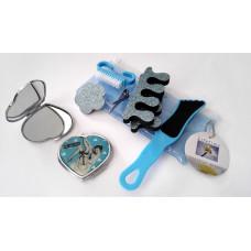 Kosmetický set pedikúra a zrcátko, modrý