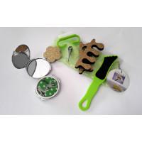 Kosmetický set pedikúra a zrcátko, zelený