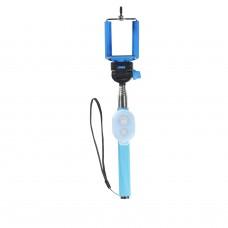 Polaroid 99100 teleskopická selfie tyč 100cm s bluetooth tlačíkem - modrá