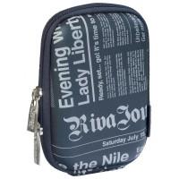 Riva Case 7023 pouzdro na fotoaparát, tmavě modré Newspaper
