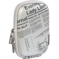 Riva Case 7023 pouzdro na fotoaparát, stříbrné Newspaper