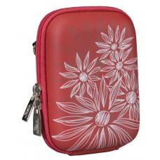 Riva Case 7023 pouzdro na fotoaparát, červené Flowers