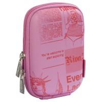 Riva Case 7023 pouzdro na fotoaparát, růžové Newspaper
