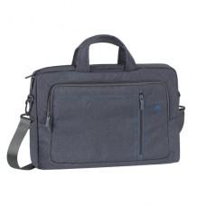 """Riva Case 7530 plátěná stylová taška na notebook 15.6"""", šedá"""