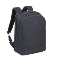 """Riva Case 8365 carry-on cestovní batoh na notebook 17.3"""", černá"""