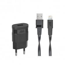 Riva Power 4115 BD2 síťová nabíječka 1.0 A/ 1 USB, černá + Mfi Apple Lightning kabel