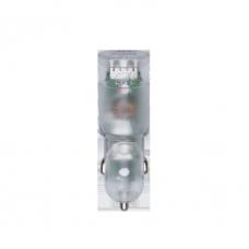 Riva Power 4223 TD1 duální automobilový adaptér  3,4A/2xUSB, transparentní + micro USB kabel