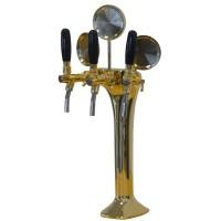 Výčepní stojan COBRA tříkohoutový, zlato