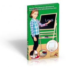 Dřevěná dětská kreslicí tabule oboustranná, 80 x 60 x 46 cm