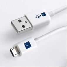 TECH USB kabel USB 2.0 A zástrčka - micro B zástrčka, bílý, 1m