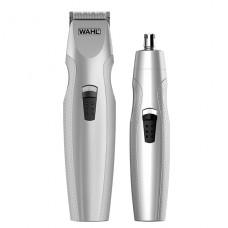 Bateriový zastřihovač vousů se zastřihovačem nosních chloupků set WAHL 5606-308